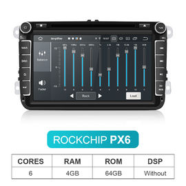 Touch Screen 4GB RAM 64GB ROM Car DVD Player for VW