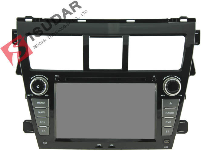 7 Inch Toyota Yaris Sat Nav Unit , Toyota Car Dvd Player Gps Built-In Radio Tuner